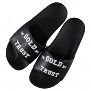 In Gold We Trust slippers