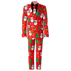 OppoSuits jongens kostuum Holiday Hero rood