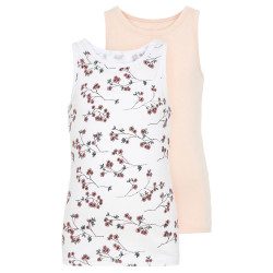 Name It meisjes hemd Nmftank2p roze/wit