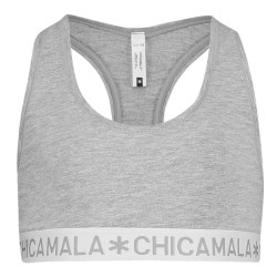Chicamala racer back top grijs