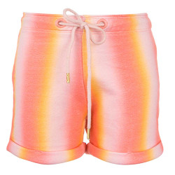 Stones and Bones meisjes sweatshort Alice stripes oranje