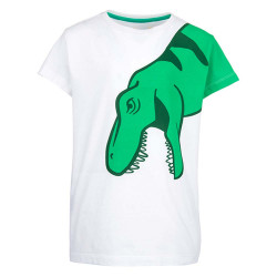 Stones and Bones jongens shirt Oscar T-Rex wit