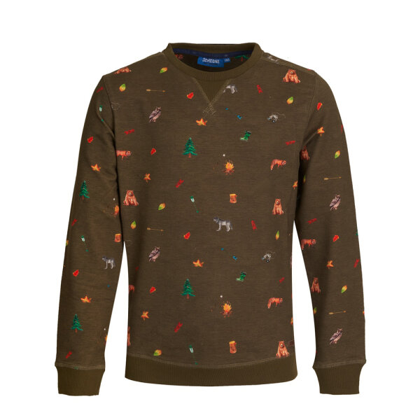 Someone jongens sweater CAMPING-SB-16-F groen
