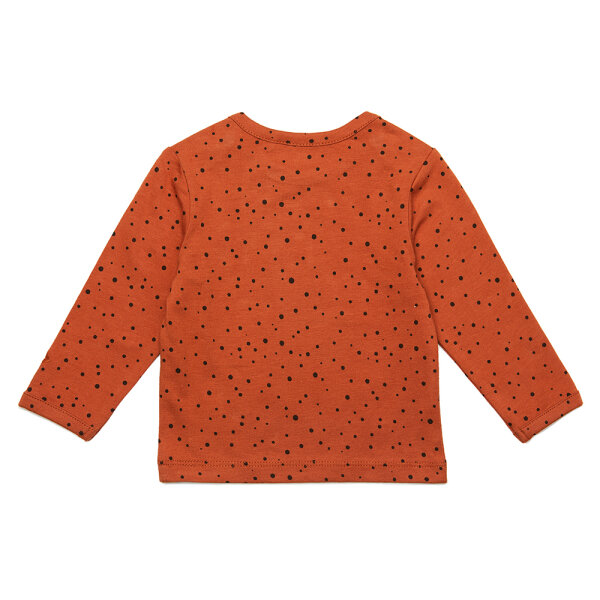 Noppies newborn basic shirtje Kris roodbruin